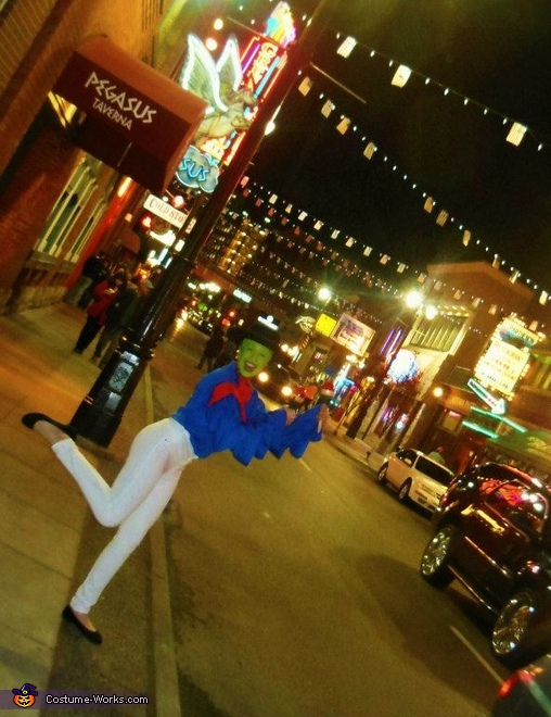 The Mask dancing in the streets of Detroit, MI, Cuban Pete The Mask Costume