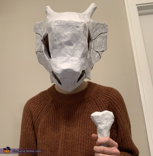 From the front, Cubone from Pokémon Costume