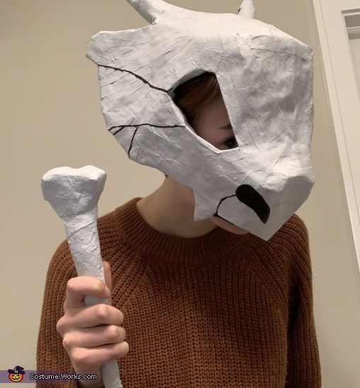 This is my good side, Cubone from Pokémon Costume