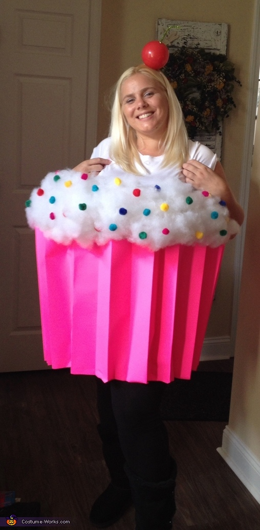 Cupcake cutie costume for Easy homemade costume ideas for kids