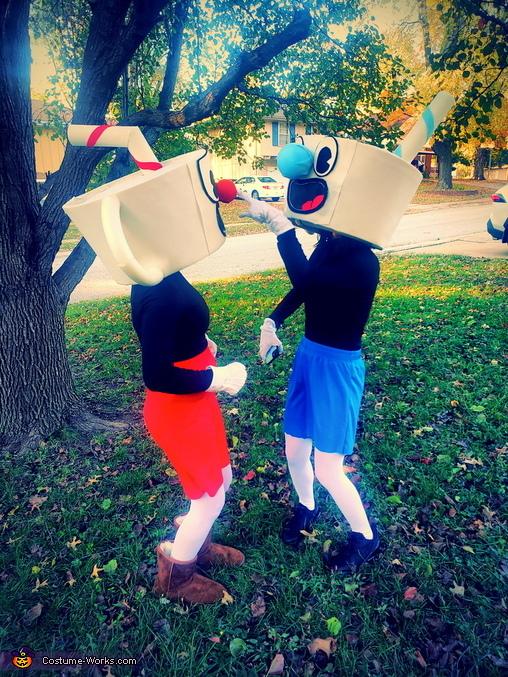 Cuphead and Mugman Homemade Costume