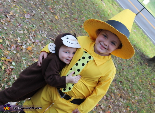 Curious George and The Man in the Yellow Hat Costume