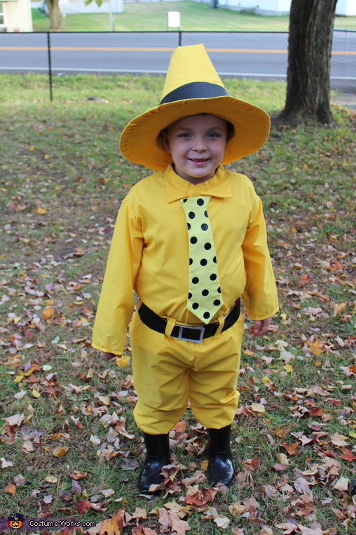 Curious George and The Man in the Yellow Hat Homemade Costume