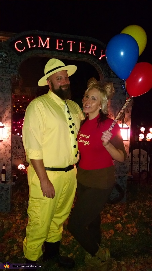 Curious George and the Man in the Yellow Hat Couple Homemade Costume