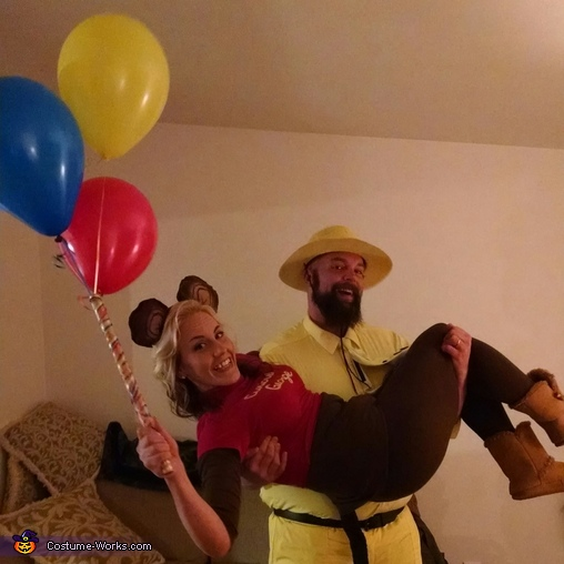 Curious George and the Man in the Yellow Hat Couple Costumes
