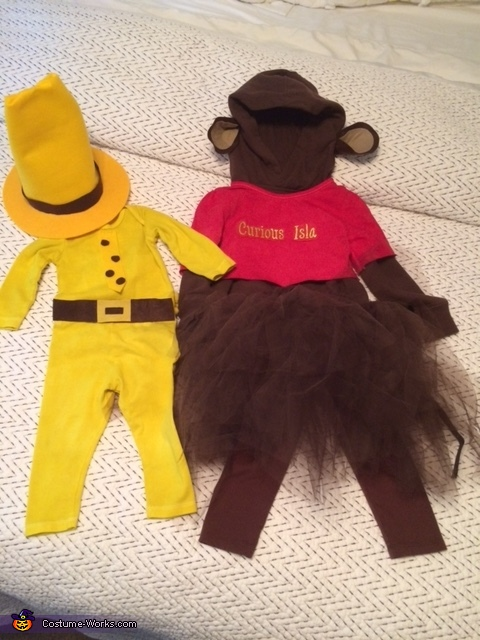 All finished, Curious George & Man in Yellow Hat Costume