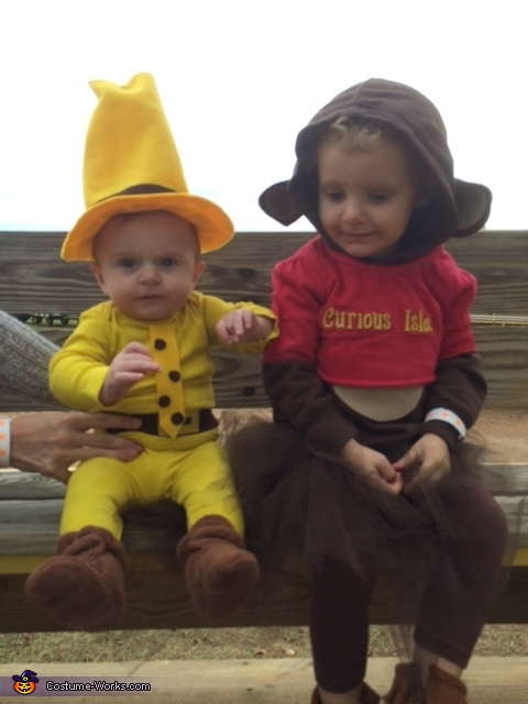 My cuties, Curious George & Man in Yellow Hat Costume