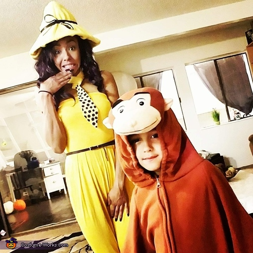 Curious George & The Woman in the Yellow Hat Costume