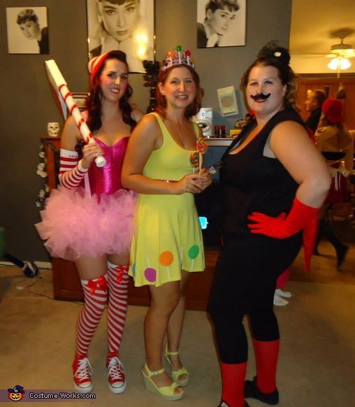 Candyland Group Costume: Mr. Mint, Princess Lolly and Lord Licorice