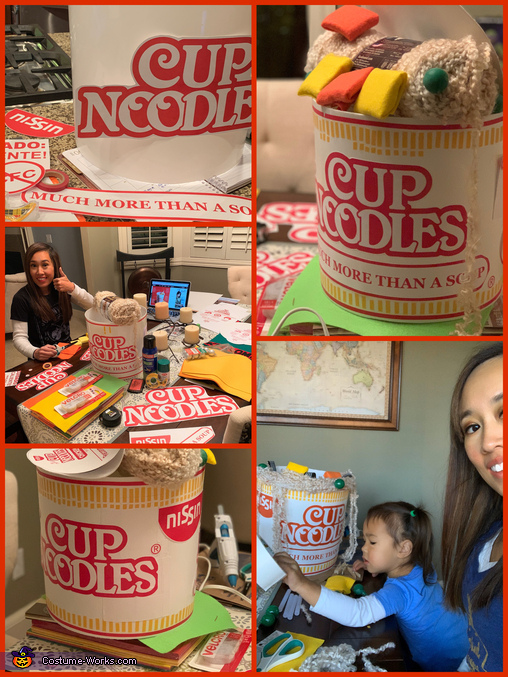 The production, Cute Cup Noodles Costume