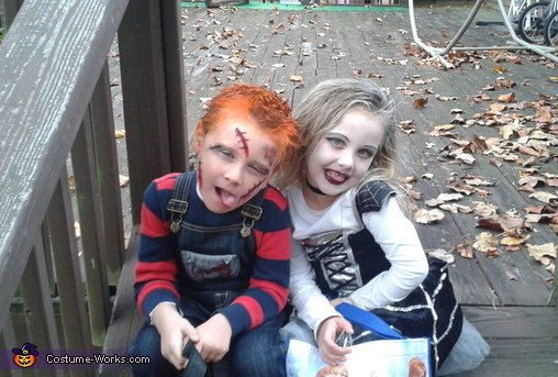 SASSY FACES!!!, Chucky and the Bride of Chucky Kids Costume