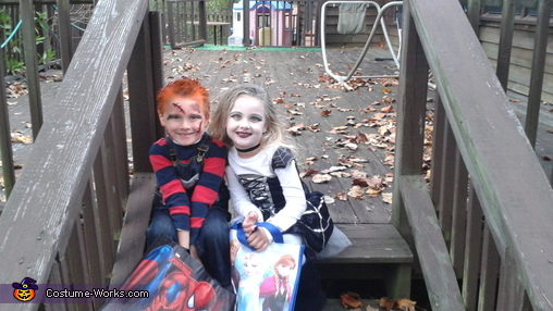 HAPPY FACES... COME ON MOMMA THE CANDY IS WAITING!, Chucky and the Bride of Chucky Kids Costume