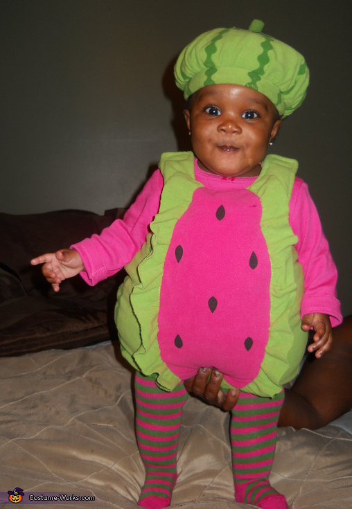 Cutie!. Lil' Watermelon - Homemade costumes for babies
