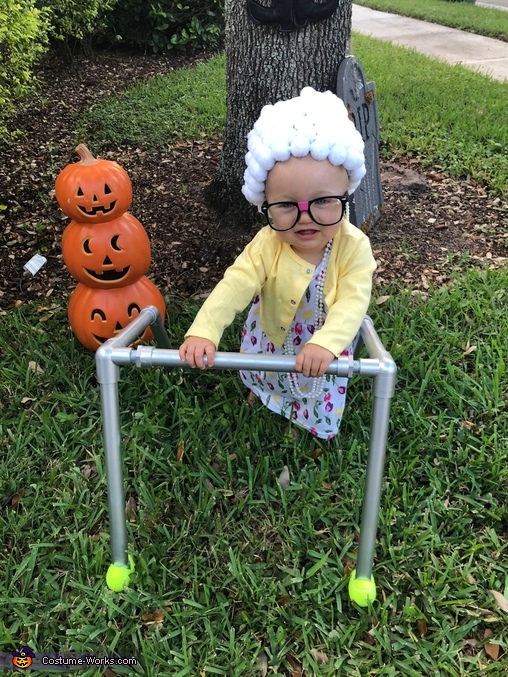Cute Little Old Lady Homemade Costume