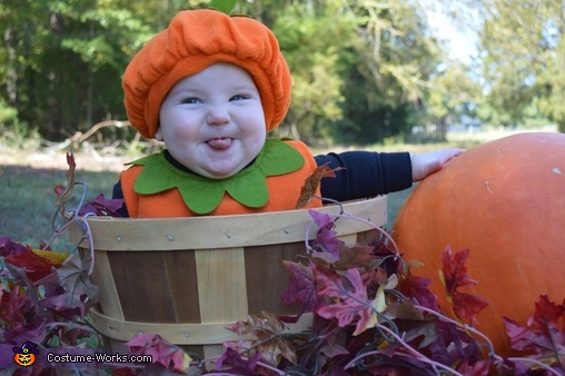 Cute Pumpkin Baby Costume