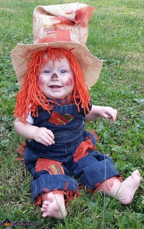 Cute Scarecrow Baby Costume  sc 1 st  Costume Works : 6 month old halloween costumes  - Germanpascual.Com