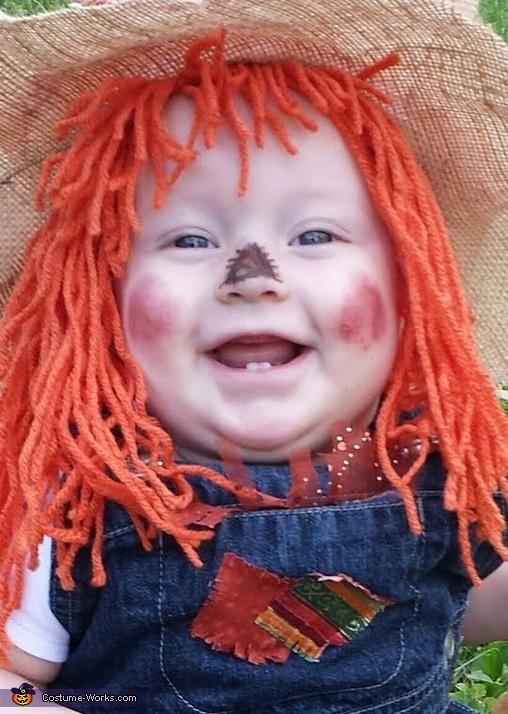 Jasmine the Happy Scarecrow, Cute Scarecrow Baby Costume