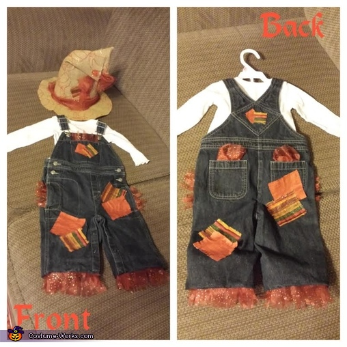 Infant Scarecrow costume, Cute Scarecrow Baby Costume