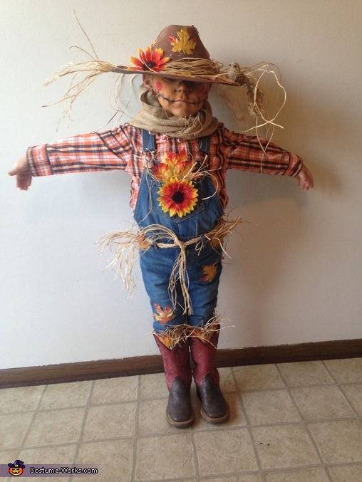 Cute Scarecrow Boy's Costume
