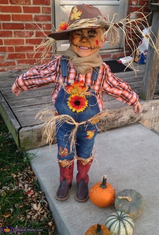 Cute Scarecrow Boy's Costume