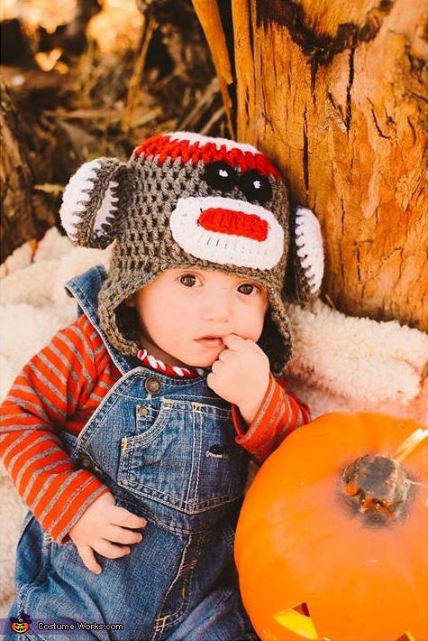 Cute Sock Monkey Baby Costume