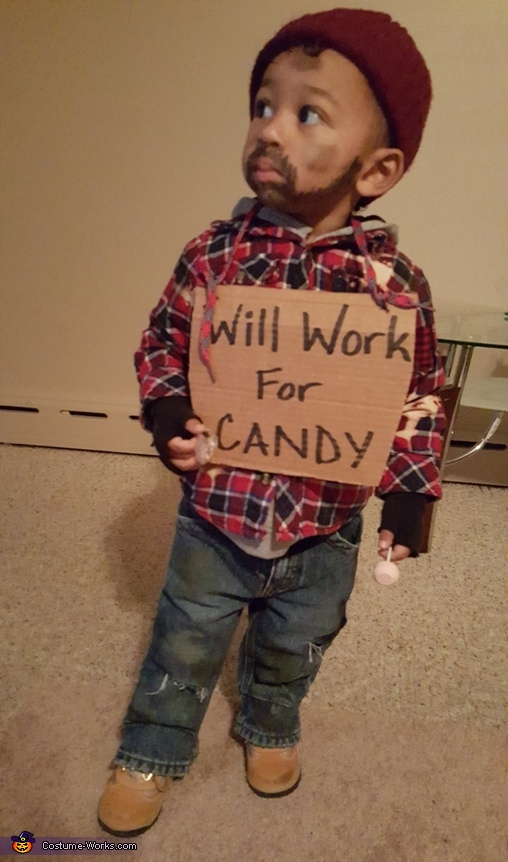 Lil Hobo Homemade Costume