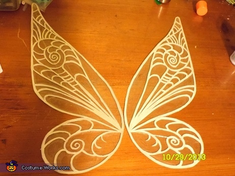 halfway finished wings, Tinkerbell Costume