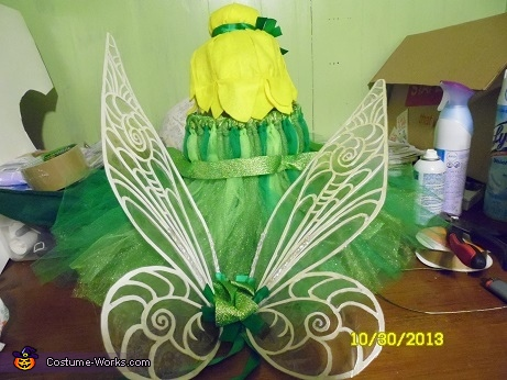 Finished costume, Tinkerbell Costume