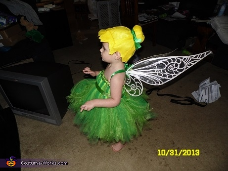 Side veiw of my beautiful Tinkerbell, Tinkerbell Costume