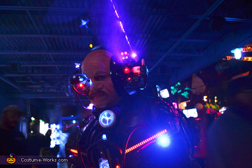 Smoke Blowing down the laser beam, Cyborg - Locutus of Borg Costume