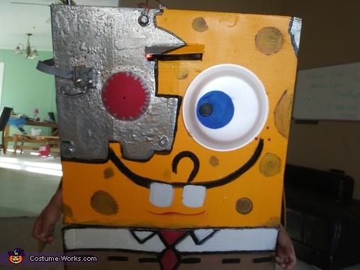 Cyborg SpongeBob Homemade Costume