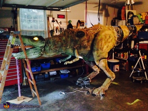 Where I built it , Cyborg T-Rex Costume