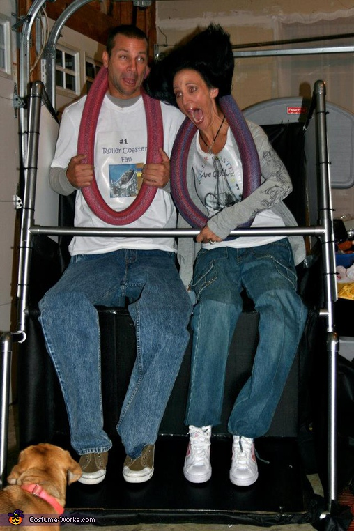 Cyclone Worlds Scariest Roller Coaster Costume For Couples Easy Diy Costumes