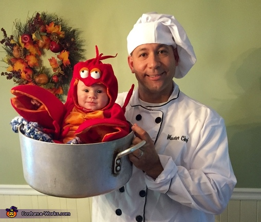 Daddy and his little Lobster Costume