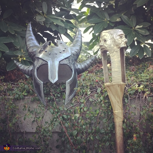 Helmet and Prop Staff, Daedric Warrior Costume