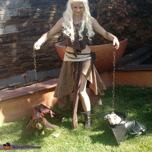 Daenerys and Baby Dragons Homemade Costume