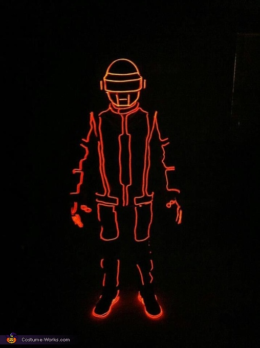 Tron. daft punk el wire suit! halloween costume, Daft Punk EL Wire Suit Costume