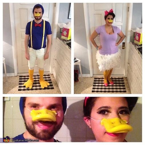 Full body shot, Daisy and Donald Costume
