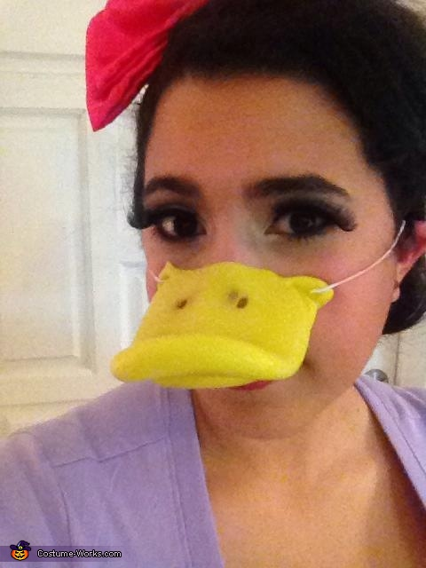 Lashes galore, Daisy and Donald Costume