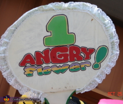 Angry Flower Sign, Daisy Gardeness Costume