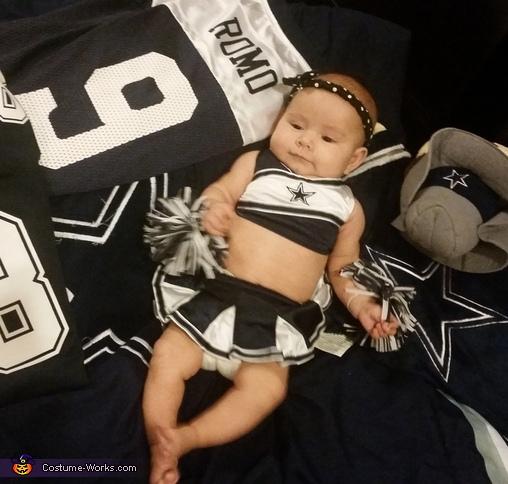 Dallas Cowboy Cheerleader Baby Costume