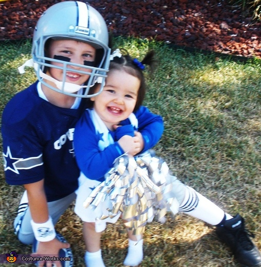 Dallas Cowboys Player and Cheerleader Costume