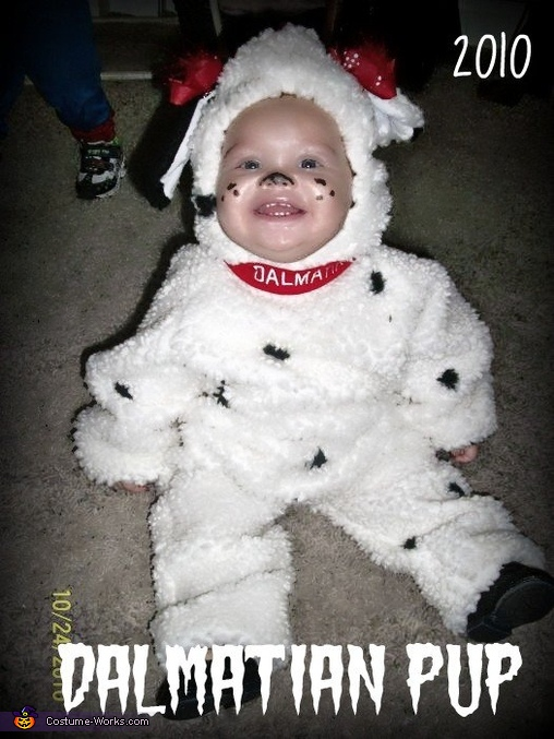 Dalmatian Puppy Baby Homemade Costume