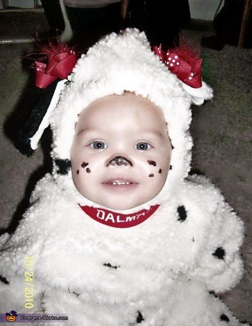 Dalmatian Puppy Baby Homemade Costume
