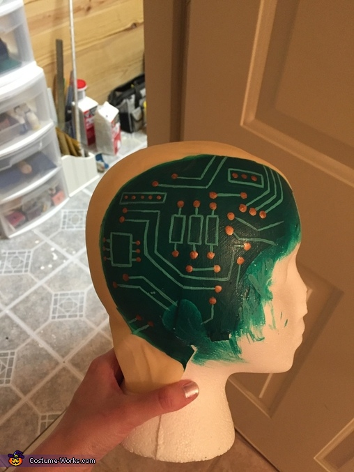 WIP 2 (circuit board), Damaged Android Costume
