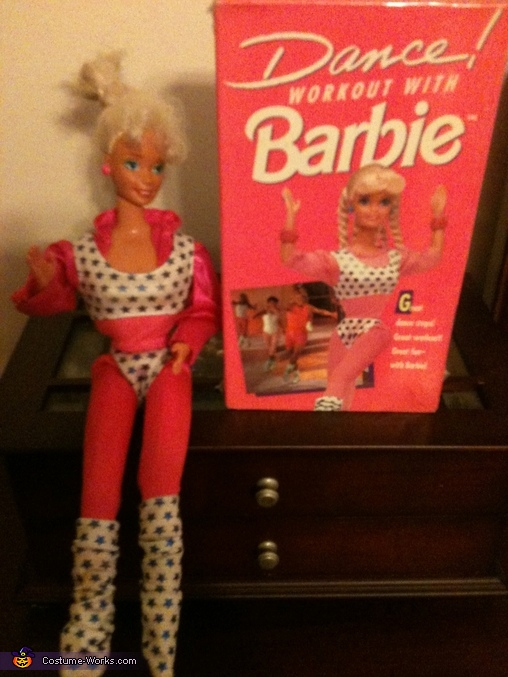 Dance Workout with Barbie Homemade Costume