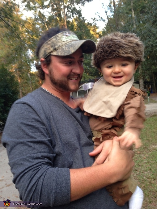 Him and daddy, Daniel Boone Baby Costume