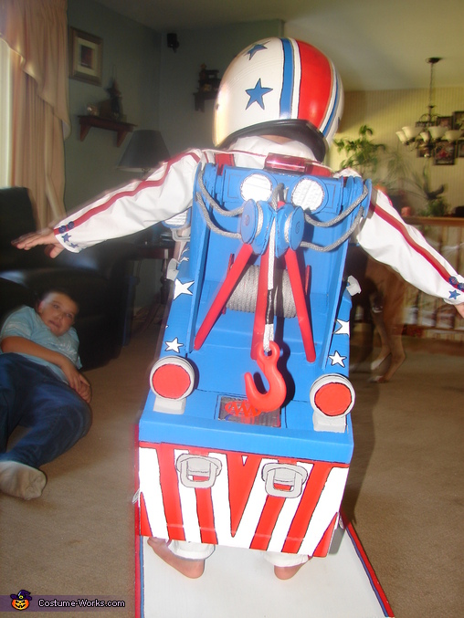 Rear of Completed Costume, Mater the Greater Costume