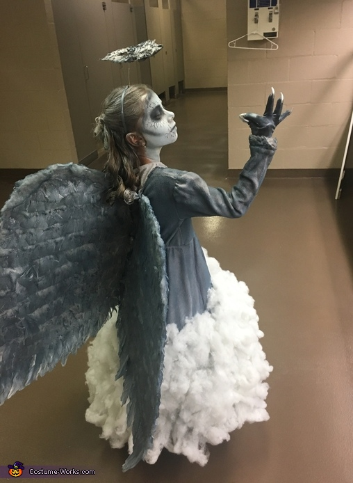A Dark Angel Coming from the Clouds Costume