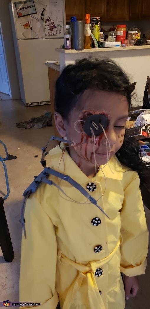Makeup with props, Dark Coraline Costume
